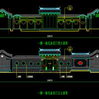 垂花门楼及影壁设计详图