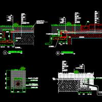 最新整理各种排水沟|盲沟|暗沟|明沟|边沟cad合集大全