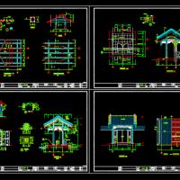 某垂花门楼建筑结构设计详图