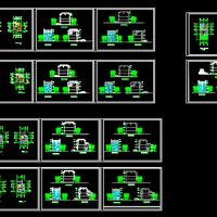 7.2X15.8几套三层徽式小别墅建筑设计图