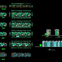 徽派风格六层砖混结构住宅楼设计方案图