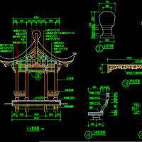 景观徽派古建廊亭全套CAD图纸