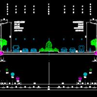 某城市道路交通设施及亮化工程CAD施工图