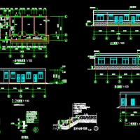 单层砌体结构管理用房施工图(含建、结、电、水)