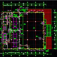 北京某大学东区三层食堂施工图