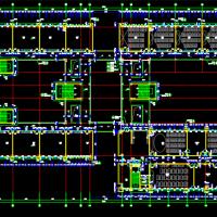某地6层框架结构教学楼建筑施工图纸(回字型)