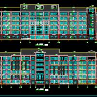 大学六层主教学楼建筑设计施工图