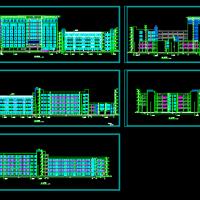 马鞍山市某9层框架结构中学教学楼建筑结构施工图