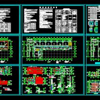 河南两层框架结构小学教学楼建筑施工图(12班)