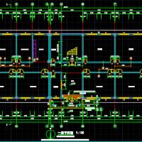 河北三层框架结构小学教学楼设计图(3543平米)