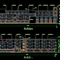 小学校建筑设计方案图纸平立剖面图