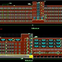 医学院五层框架结构教学楼建筑设计施工图