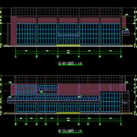 安徽某大学风雨操场建结水电暖通全套CAD图(篮球馆)