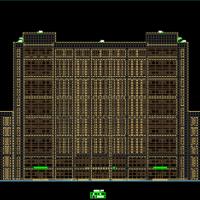 安徽某大学行政教学楼建结水电暖通全套图(含消防绿建说明)