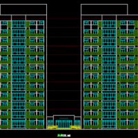 安徽某大学生公寓楼建结水电暖全套施工图