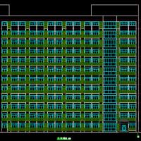南方某大学学生公寓楼建结水电暖通全套图