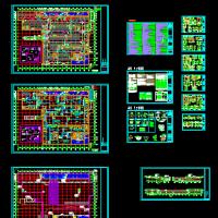 某大学建筑地下人防车库建筑设计图