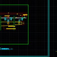 玻璃雨篷安装节点及玻璃地弹门节点CAD图