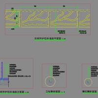 混凝土仿树木栏杆设计图及施工流程介绍