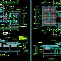 某景区仿古厕所建筑设计CAD图纸