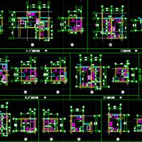 厨房卫生间建筑平面布置详图