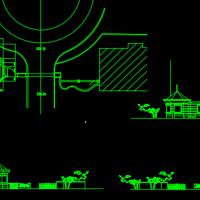 某八角形传达室设计方案图
