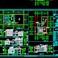 某消防水池泵房兼值班室设计图