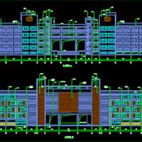 云南某地大型小学教学楼建筑设计施工CAD图
