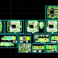 中学5层教学楼全套建筑施工图(U型布置)