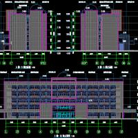 中学五层实验楼建筑施工图纸(只有平立剖)