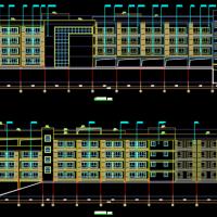 重庆某地小学四层教学楼建筑设计图
