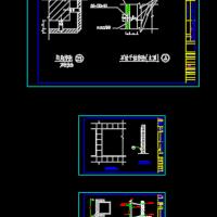 格构钢架干挂石材设计CAD图