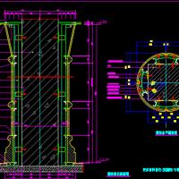 干挂石材方柱变圆柱节点设计CAD详图