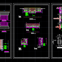 罗马柱石材干挂设计CAD图纸