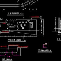 喷水文化墙大样设计CAD图