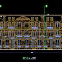 某高档别墅干挂石材设计CAD全套图(100多张)