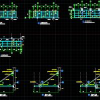 悬挑4米钢结构玻璃雨棚CAD详图(带拉杆)