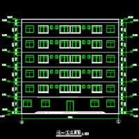 6层框架结构宿舍楼毕业设计图纸(含建筑结构2097平米)