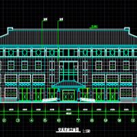 某地四层骨灰存放堂建筑方案设计图