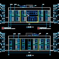 光伏电站小型二层办公楼建筑设计图纸