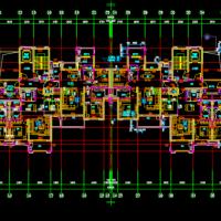 34层带连廊南北通透户型平面图