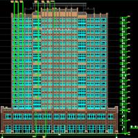 湖南带连廊南北通透18层住宅建筑图