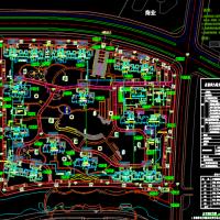 江苏某高层住宅小区规划总平图