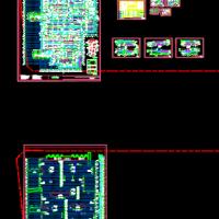 无梁楼盖大型地库建筑设计图(节点详细)