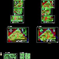 超大型地下两层汽车库详细施工图共21张(含说明)