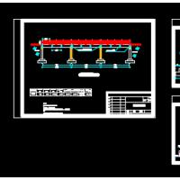 25米三跨简支桥结构设计图纸