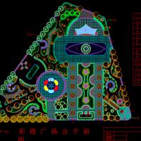 某三角形广场景观规划设计图纸