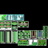 南北通透34层高层住宅楼建筑图(寒冷地区65%节能)