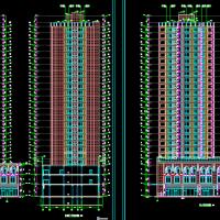 设计非常详细的住宅建筑及结构全套含大地库
