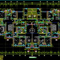 24层一类高层住宅楼建筑结构水电暖通全套图(含绿建说明灌注桩)